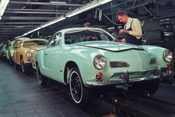 Produktion des Karmann Ghia