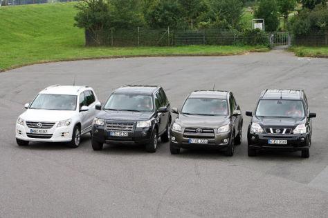 Land Rover Freelander Nissan X-Trail Toyota RAV4 VW Tiguan