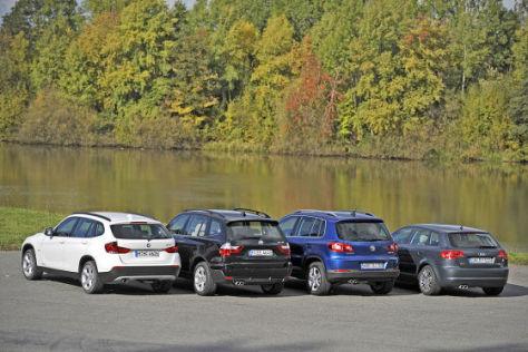 BMW X1 BMW X3 VW Tiguan Audi A3 Sportback