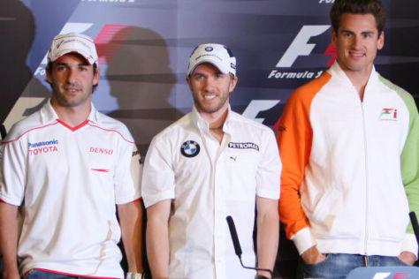 Welchen F1-Piloten wünschen Sie sich in der DTM? Timo Glock, Nick Heidfeld oder Adrian Sutil (v.li.)?