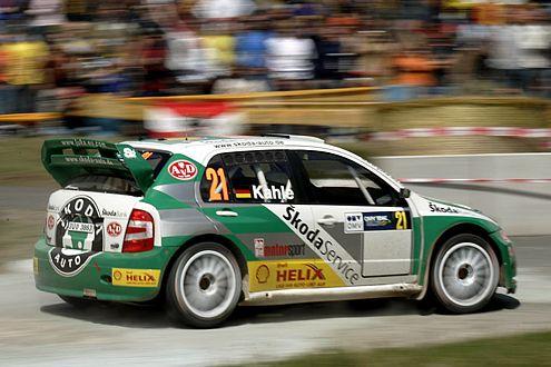 In der WRC nur noch im privaten Einsatz: der Skoda Fabia WRC.