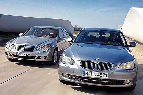 Teures Vergnügen: 530i und E 350 bleiben nur knapp unter 50.000 Euro.