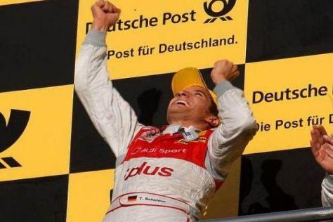Grenzenloser Jubel: Timo Scheider nach seinem zweiten Titelgewinn