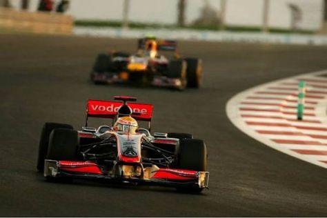 Lewis Hamilton führte, bis er wegen Bremsproblemen aufgeben musste