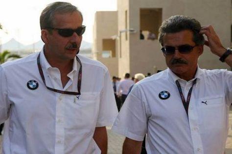 Mario Theissen (rechts) mit Klaus Draeger, Mitglied des BMW Vorstands