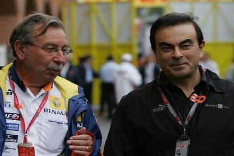 Jean-François Caubet im Gespräch mit Konzernchef Carlos Ghosn