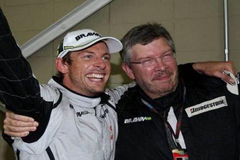 Jenson Button und Ross Brawn wollen 2010 gemeinsam weitermachen