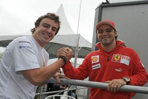 Fernando Alonso traf auch seinen künftigen Teamkollegen Felipe Massa