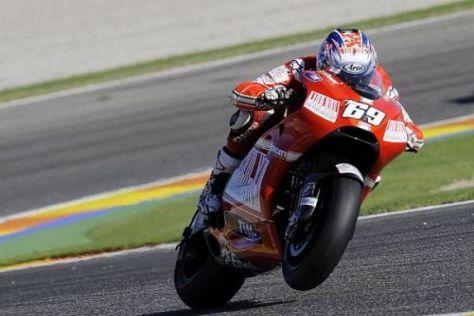 Pech für Casey Stoner: Nicky Hayden war ein Ducati-Einzelkämpfer in Valencia