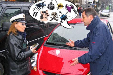 Beleidigung einer Polizistin kostet extra.