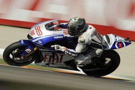 Jorge Lorenzo gab am zweiten Testtag von Valencia das MotoGP-Tempo vor