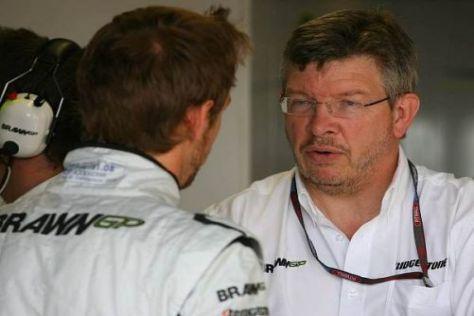 Jenson Button und Ross Brawn haben sich für 2010 noch nicht geeinigt