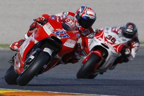 Casey Stoner hatte zum Abschluss der MotoGP-Tests die Ducati-Nase vorne