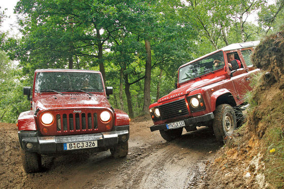 Jeep Wrangler Land Rover Defender