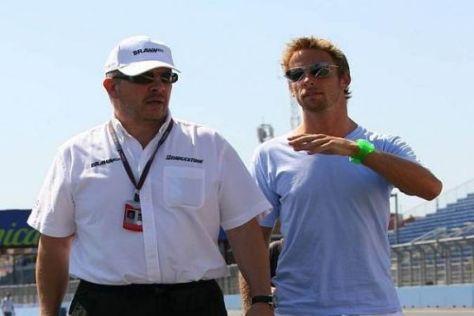 Ross Brawn und Jenson Button feilschen immer noch um das Gehalt