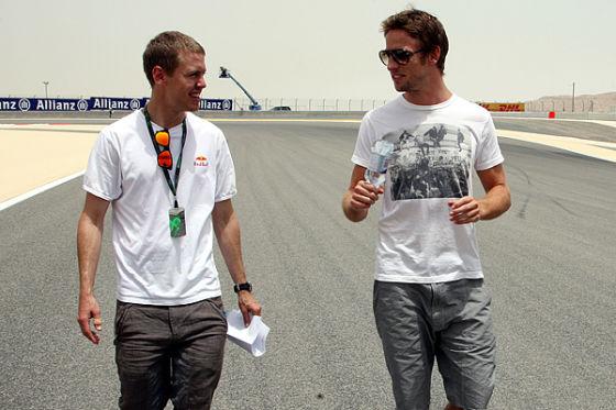 Vettel und Button