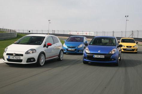 Vergleich Corsa OPC, Clio RS, Punto Abarth esseesse, Ibiza Cupra