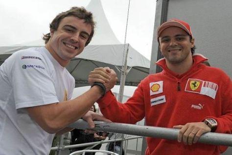 Das neue Ferrari-Duo: Fernando Alonso und Felipe Massa geben gemeinsam Gas