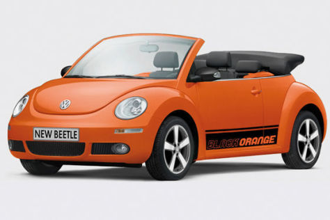 VW Beetle Cabrio BlackOrange