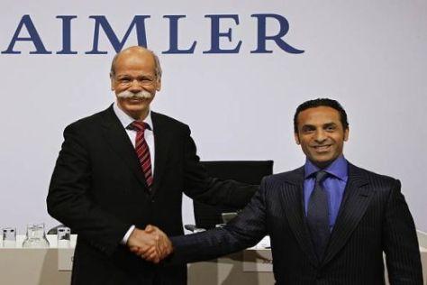 Daimler und Aabar lassen sich den Einstieg bei Brawn 123 Millionen kosten