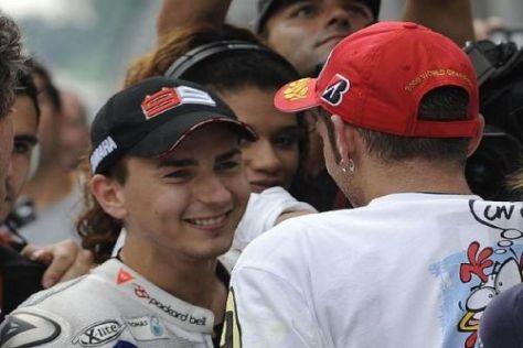 Starke Fahrerkombination: Jorge Lorenzo und Valentino Rossi