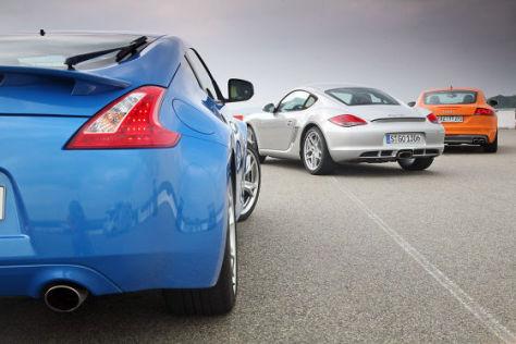 Audi TTS Nissan 370Z Porsche Cayman