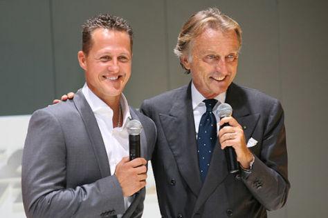 Michael Schumacher mit Ferrari-Präsident Luca di Montezemolo