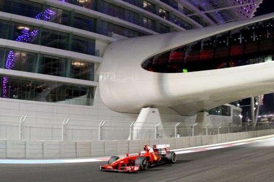 Giancarlo Fisichella Ferrari 2009 Abu Dhabi