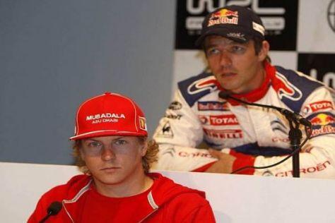 Bald Kollegen im C4 WRC? Kimi Räikkönen und Sébastien Loeb