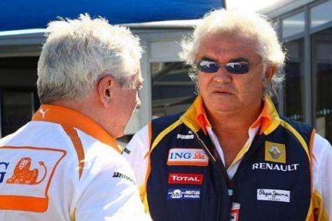 Pat Symonds und Flavio Briatore hoffen, dass die FIA-Strafen revidiert werden