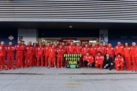 """Ferrari lässt Felipe Massa alles Gute zur Geburt von """"Felipinho"""" ausrichten"""