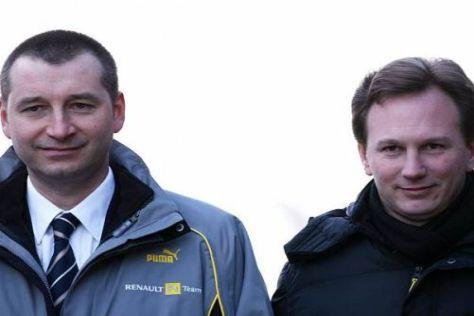 Renault-Motorenguru Rob White mit Red-Bull-Teamchef Christian Horner