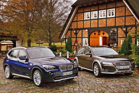 Vergleich BMW X1 gegen Audi A4 allroad