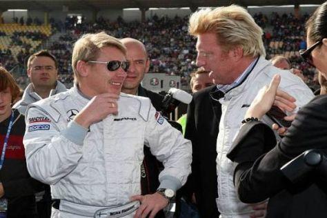 Mika Häkkinen und Boris Becker beim PS-Small-Talk in Hockenheim
