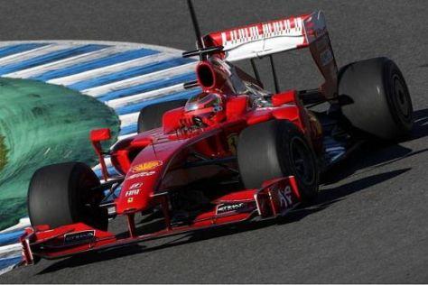 Jules Bianchi konnte in Jerez zahlreiche Testkilometer im Ferrari F60 absolvieren
