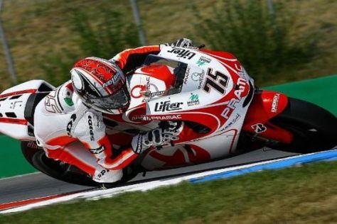 2009 durfte Mattia Pasini schon für Ducati testen, 2010 fährt er in der neuen Moto2