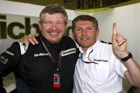 Haben mit dem Honda-Ausstieg viel Geld verdient: Ross Brawn und Nick Fry