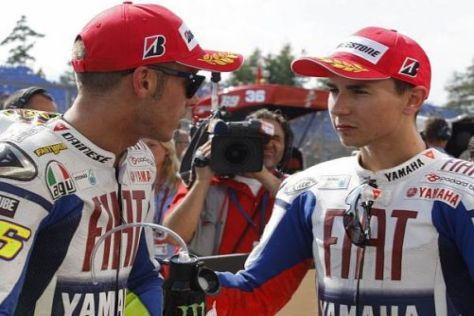 Valentino Rossi und Jorge Lorenzo sollen nicht die besten Freunde sein