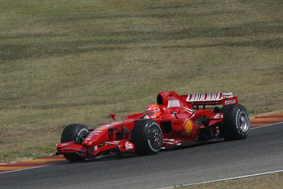 Michael Schumacher beim Ferrari-Test