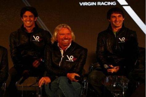 Richard Branson hat schon jetzt viel Freude an Lucas di Grassi und Timo Glock