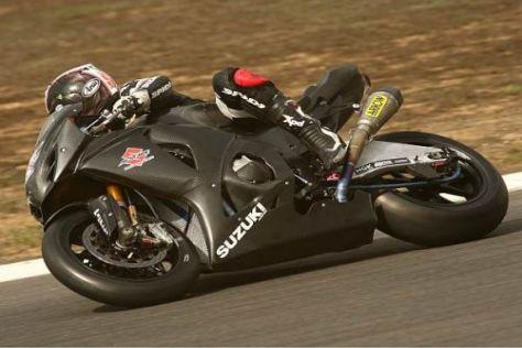 Leon Haslam fühlt sich auf seiner neuen Suzuki sichtlich wohl