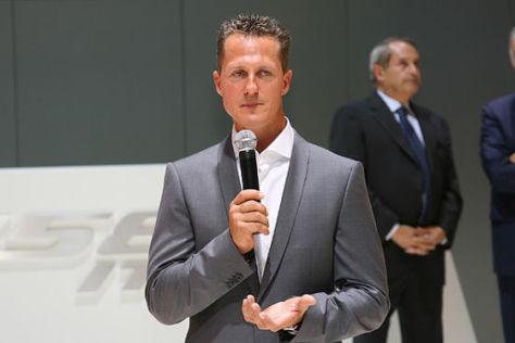 Michael Schumacher am Mikrofon