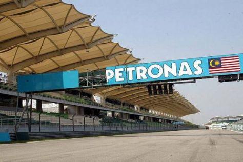 Die Werbetafeln von Petronas werden auch 2010 in Sepang hängen