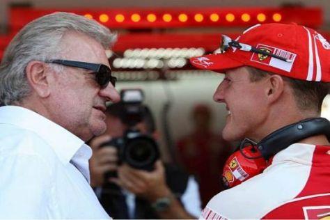 Michael Schumacher und Willi Weber arbeiten seit 1988 zusammen