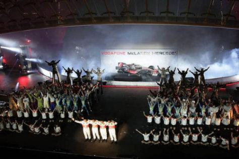 McLaren-Präsentation im Jahr 2007: In Valencia wurde eine Supershow geboten