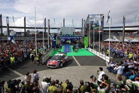 Die Rallye Finnland startet 2010 mit einem Innenstadtspektakel