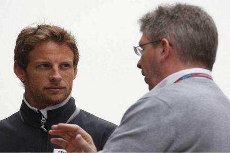 Jenson Button und Ross Brawn gehen ab nächster Saison getrennte Wege