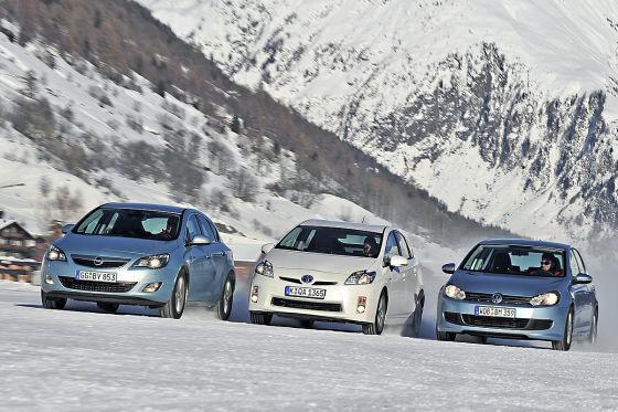 VW Golf Opel Astra Toyota Prius
