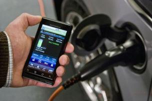Handy steuert E-Auto