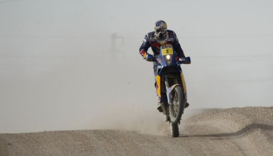 Spannend: Cyril Despres verwies seinen KTM-Kollegen Marc Coma um gerade einmal 29 Sekunden auf Platz zwei.